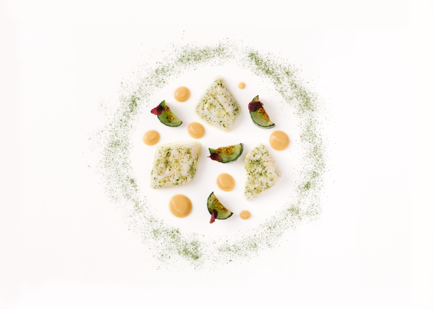 Dishes by Arnaud Bignon for The GreenHouse Restaurant Mayfair
