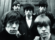 The Rolling Stones outside St. George's Church in Hanover Square, London, 17th January 1964. Clockwise from bottom left: Mick Jagger, Charlie Watts, Bill Wyman, Keith Richards and Brian Jones (1942 - 1969).